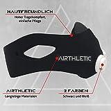 AIRTHLETIC® AtemmaskeTraining Mask mit 12 Ventilkappen [6 schwarz & 6 weiß] und Kopfriemen für extra Halt - Deutsche Marke - 3