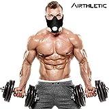 AIRTHLETIC® AtemmaskeTraining Mask mit 12 Ventilkappen [6 schwarz & 6 weiß] und Kopfriemen für extra Halt - Deutsche Marke - 6